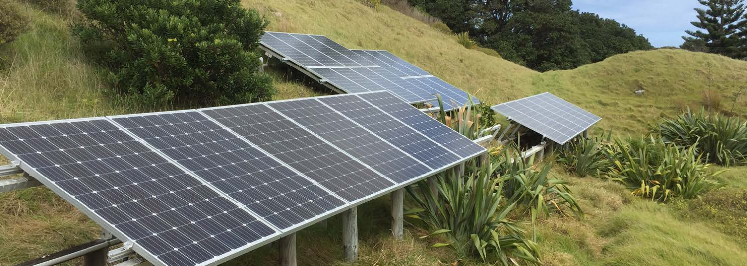 PV Solar Array on Motukiekie Island
